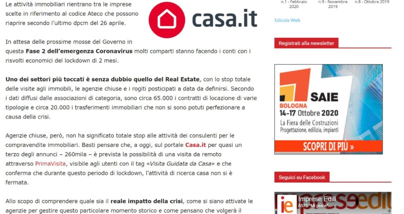 Il mio intervento su impreseedilinews.it